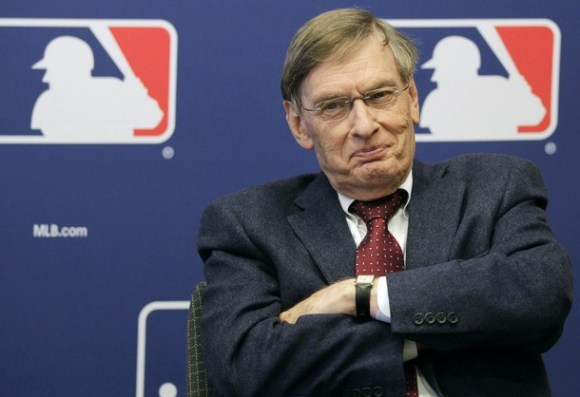 MLB Commissioner Bud Selig speaks during a news conference in New York