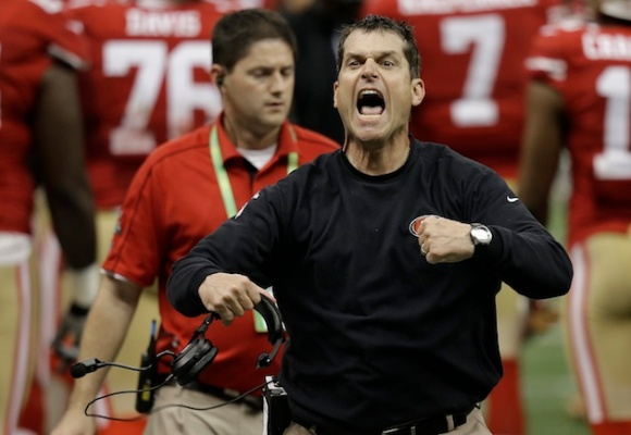 Jim Harbaugh's intensity is really lacking in Texas' locker room (AP Photo/Gene Puskar)