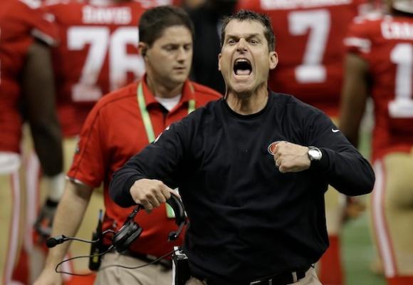 Jim Harbaugh's intensity is really lacking in Texas' locker room (AP Photo/Gene Puskar)