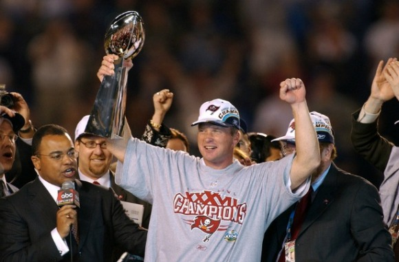 Jon Gruden is a Super Bowl winning coach. Nobody else on this list can say that. (Credit: Ida Mae Astute/ABC)