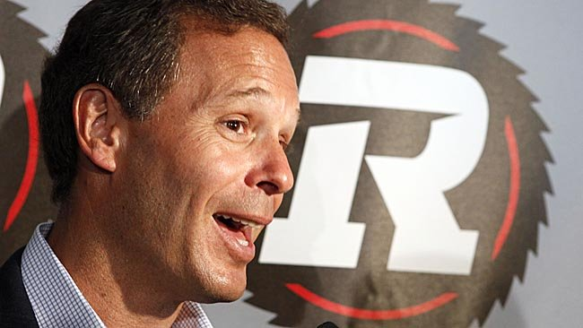 CFL commissioner Mark Cohon speaks to the media after the official launch and team announcement for the Ottawa RedBlacks last June. (Darren Brown/QMI Agency)
